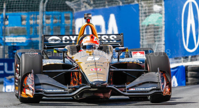James Hinchcliffe set fastest time at Sebring test day.