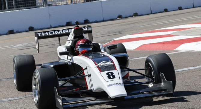 Parker Thompson tops the chart in the first Indy Pro 2000 Practice Session